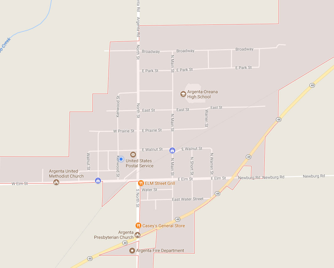 Map of Argenta, IL